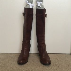 Michael Kors pull on leather boots